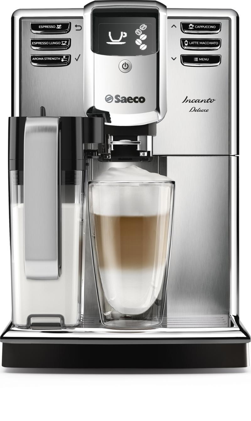 Incanto Deluxe Die neuen Saeco Incanto Vollautomaten bieten elegantes Design und beeindruckende Kaffeequalität