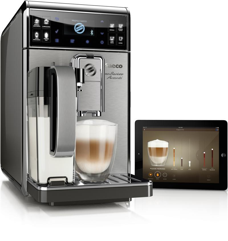 Kaffeespezialitäten per App: Philips präsentiert mit der Saeco GranBaristo Avanti den weltweit ersten vernetzten Kaffeevollautomaten